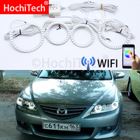 Wifi Wireless RGB Multi Color LED Angel Eye Halo Rings Day Light DRL for Mazda6 Mazda 6 Mazdaspeed6 2002 2003 2004 2005 2008
