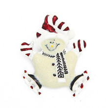Fashion Christmas Gift Enamel Hat Cute Silver Plated Snowman Brooch Brooches Pin Xmas Jewelry