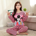 Wholesale Pajama Sets Long Sleeve women Sleepwear Autumn Winter Carton Cotton Pijama Mujer Women Home Clothes Girls Nightgown
