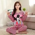 Wholesale Pajama Sets Long Sleeve women Sleepwear Autumn Winter Carton Cotton Pijama Mujer Women Home Clothes Girls Nightgown