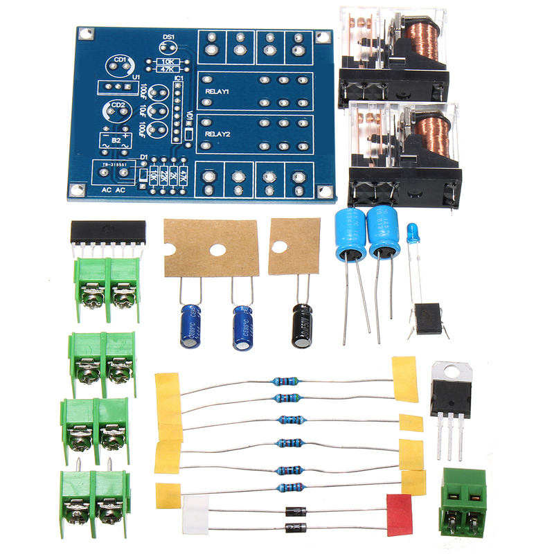 12-24V Dual Relay 7812+UPC1237 Speaker Protection Board Module DIY Kit For HIFI 6.9cm x 57mm Boards Modules DIY Kits self dual z4 modules