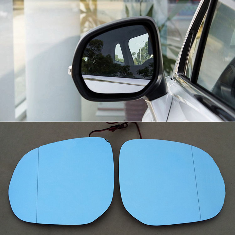 Ipoboo 2pcs New Power Heated w/Turn Signal Side View Mirror Blue Glasses For Peugeot 3008