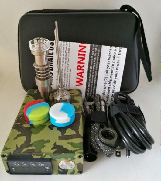 Nouvelle mise à niveau Dnail Fit plat 10mm & 16mm & 20mm bobine titane/Quartz hybride D ongle E clou fermeture à glissière Kit D ongle Portable boîte