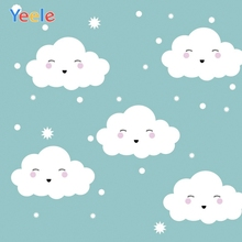 Yeele White Clouds Blue Sky Smile Face Cartoon Photography Backgrounds Customized Photographic Backdrops for Photo Studio