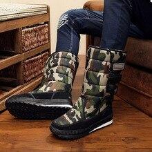New Men's Ankle Boots Waterproof Men Snow Boots Winter Outdoor Fur Warm Mans Boo