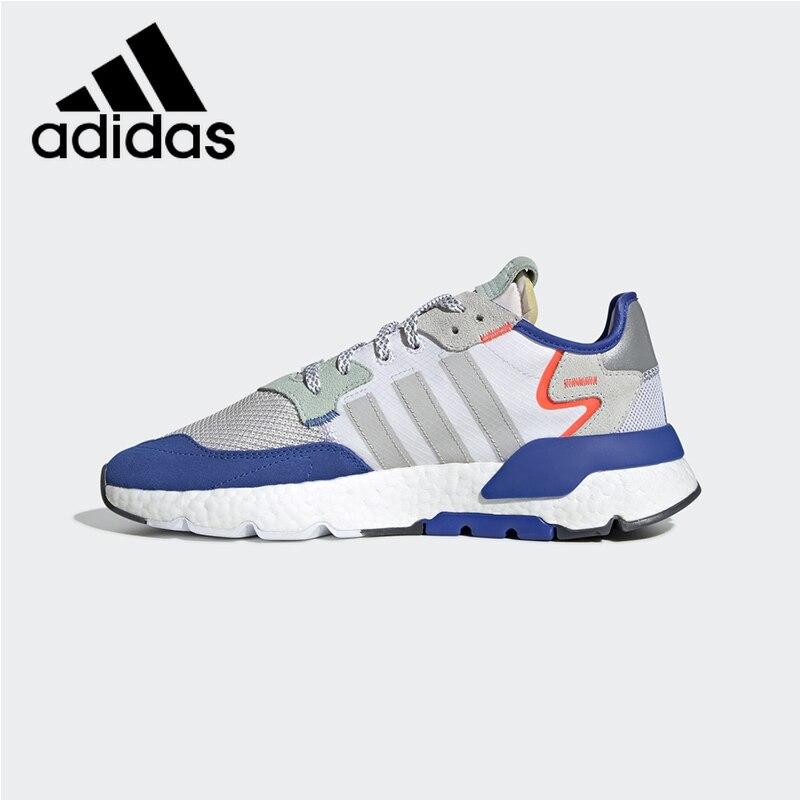 Survêtement Original authentique Adidas Nite chaussures de course pour hommes mode chaussures de sport de plein air respirant nuit réfléchissant EF2810
