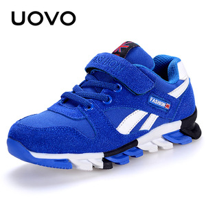 Image 5 - Uovo 봄 가을 소년 운동화 어린이 신발 캔버스 인공 스웨이드 키즈 운동화 패션 키즈 스포츠 신발 크기 29 37 #