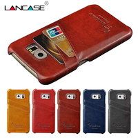 For Galaxy G920 2015 Vintage PU Oil Wax Leather Back Cover With Card Holder Phone Accessories