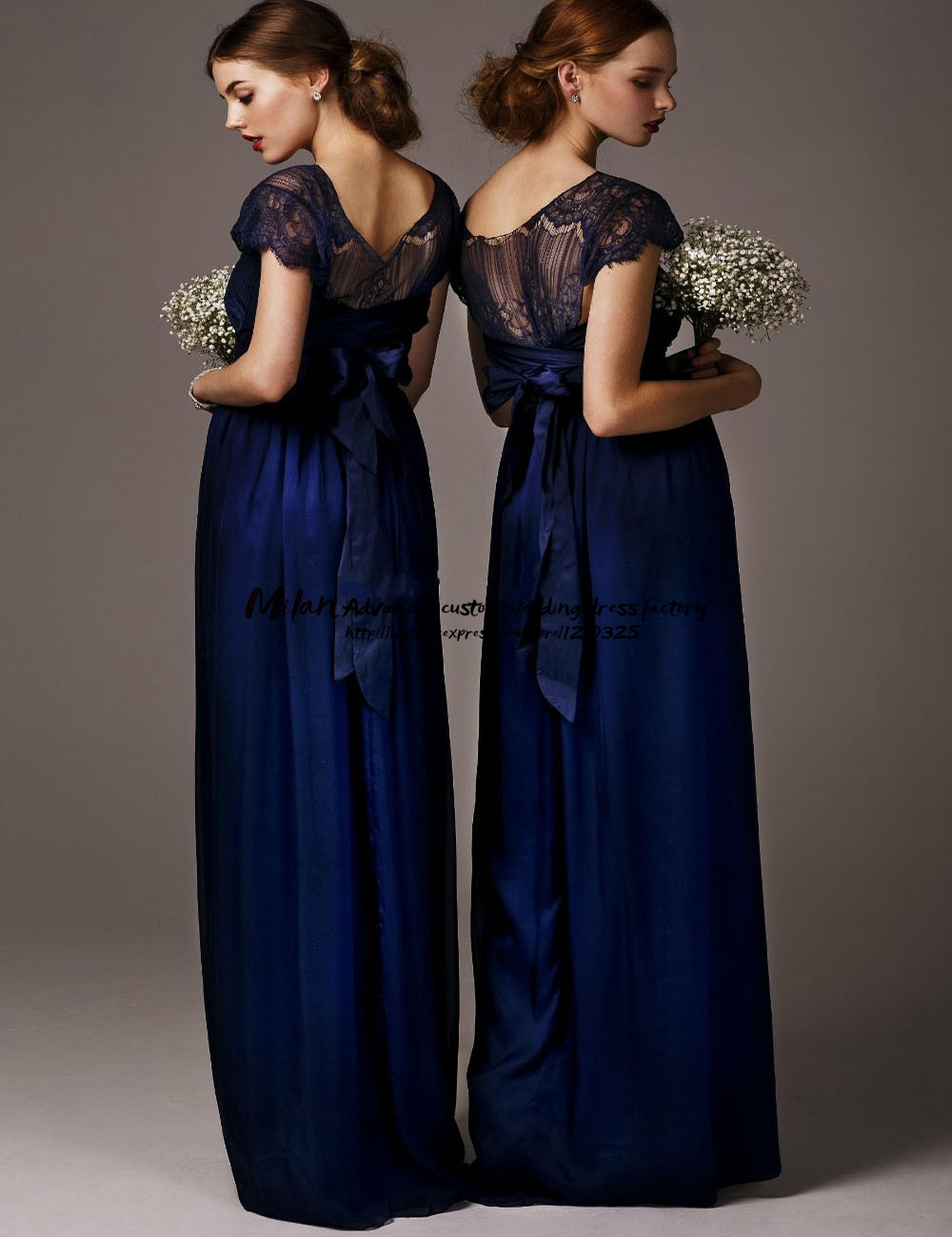 Aliexpress buy robe demoiselle dhonneur 2017 new lacecap aliexpress buy robe demoiselle dhonneur 2017 new lacecap sleeves a line navy blue bridesmaid dresses long cheap bohemian bridesmaid dress from ombrellifo Choice Image