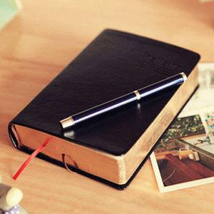 Image 2 - Retro Leder Notebook Dicken Papier Bibel Tagebuch Buch Notizbuch Neue Leere Wöchentlich Plan Schreiben Notebooks Büro Schule Liefert
