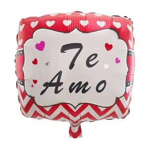 Image 3 - 10ชิ้น/ล็อต18นิ้วสเปนTE AMOลูกโป่งฟอยล์วันแม่หัวใจฮีเลียมอากาศGlobos Decorวาเลนไทน์วันBaloes