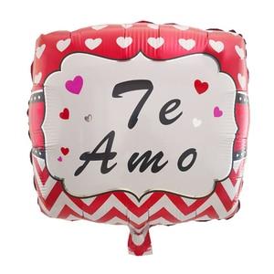 Image 3 - 10ピース/ロット18インチスペインte amo箔風船母の日ハート形ヘリウム空気グロボスの装飾のバレンタイン日用品baloes