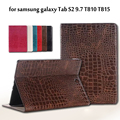 High Quality Luxury Crocodile Pattern Leather Case Cover For Samsung Galaxy Tab S2 9.7 T810 T815 9.7 inch Tablet + Stylus + Film