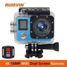 Action Camera RUISVIN B6R Full HD 4K 1080p remote Wifi 30m Waterproof Camera 2.0 LCD Double Screen mini Sports DV Camera