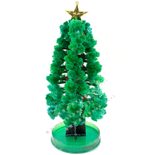 2019 H28xW11cm Extra Large Green Magic Growing Paper Crystal Christmas Tree Artificial Trees Funny Science Kids Toys Novelties