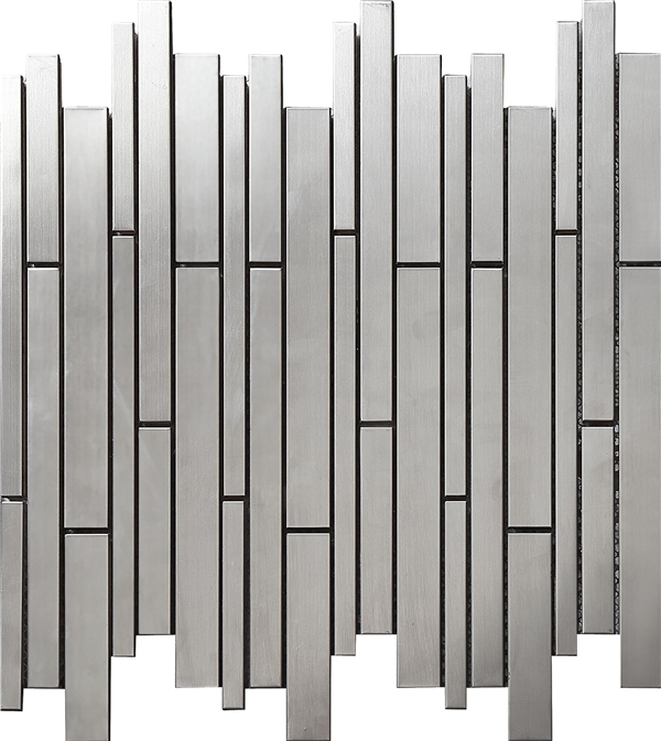 Modern Strip Silvery 3D stainless steel tiles metal mosaic tile,Kitchen backsplash home improvement wall art decor sticker,SA698 rose gold stainless steel metal mosaic glass tile kitchen backsplash bathroom background decorative art mosaic wall tile sa073 9