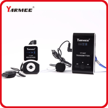 One set YARMEE wireless tour guide system VHF wireless microphone transmitter+receiver+mic+earphone+charger