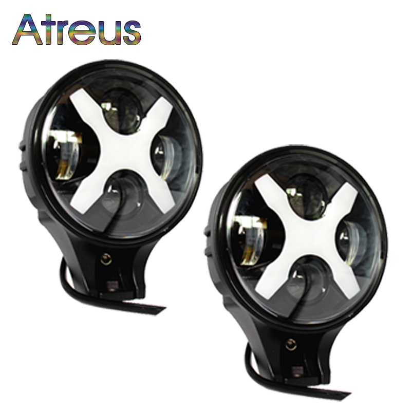 Atreus X Car-styling For Jeep Wrangler 4x4 4WD Offroad ATV Truck 1Pair 6 60W LED Car Headlight Fog Lamp with Angle Eyes 12V 24V