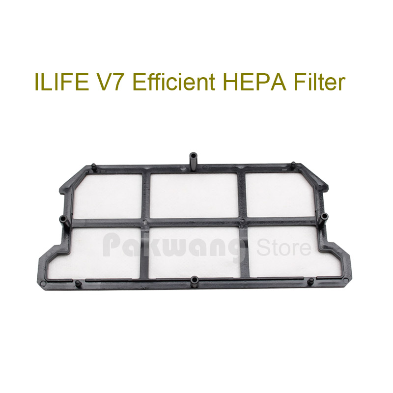 Original ILIFE V7 Robot Vacuum Cleaner HEPA Filter 1 pc supply from factory original ilife v7 primary filter 1 pc and efficient hepa filter 1 pc of robot vacuum cleaner parts from factory