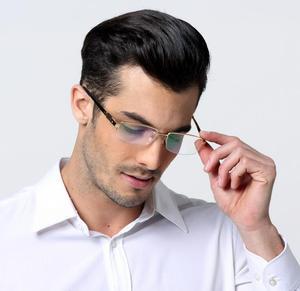 Image 4 - 男性の 100% 純粋なチタン老眼鏡ハーフリムレスリーダー + 50 + 75 + 100 + 125 + 150 + 175 + 200 + 225 + 250 + 275 + 300 + 325 + 350 + 375