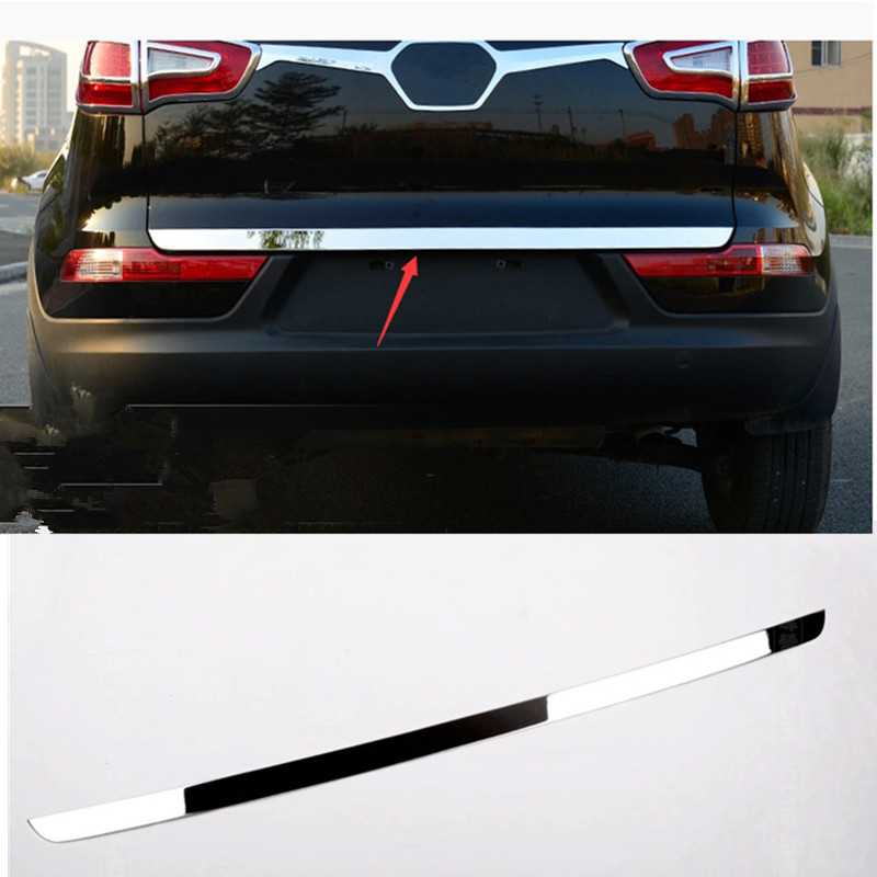 FOR 2011 2012 2014 2015 KIA SPORTAGER Accessories Made Of High Quality Stainless Steel Trunk Sportager Trunk Lid Trim Decorati