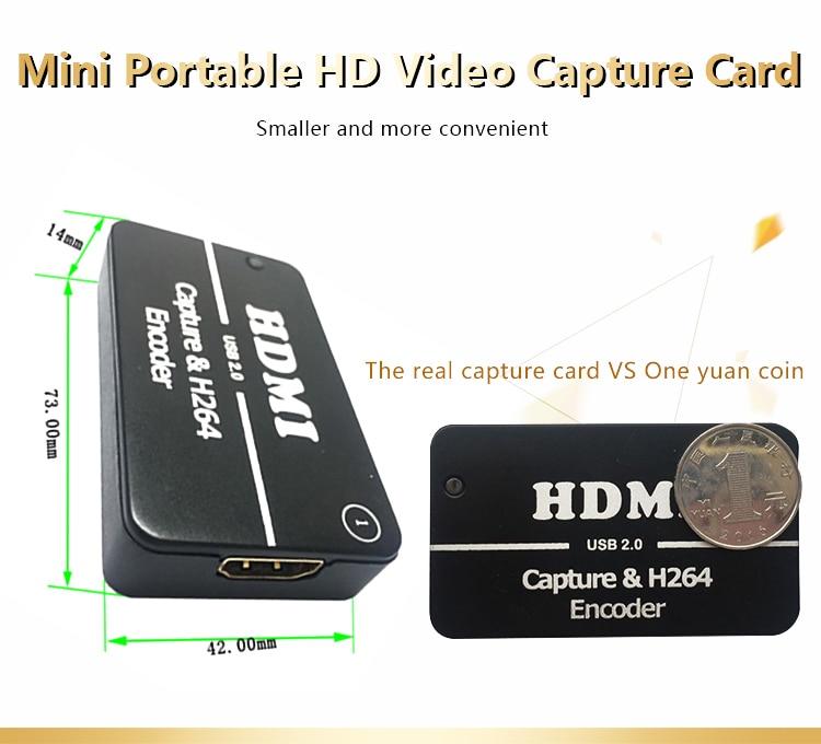 Usb 2.0 dispositivo gravador de vídeo hdmi