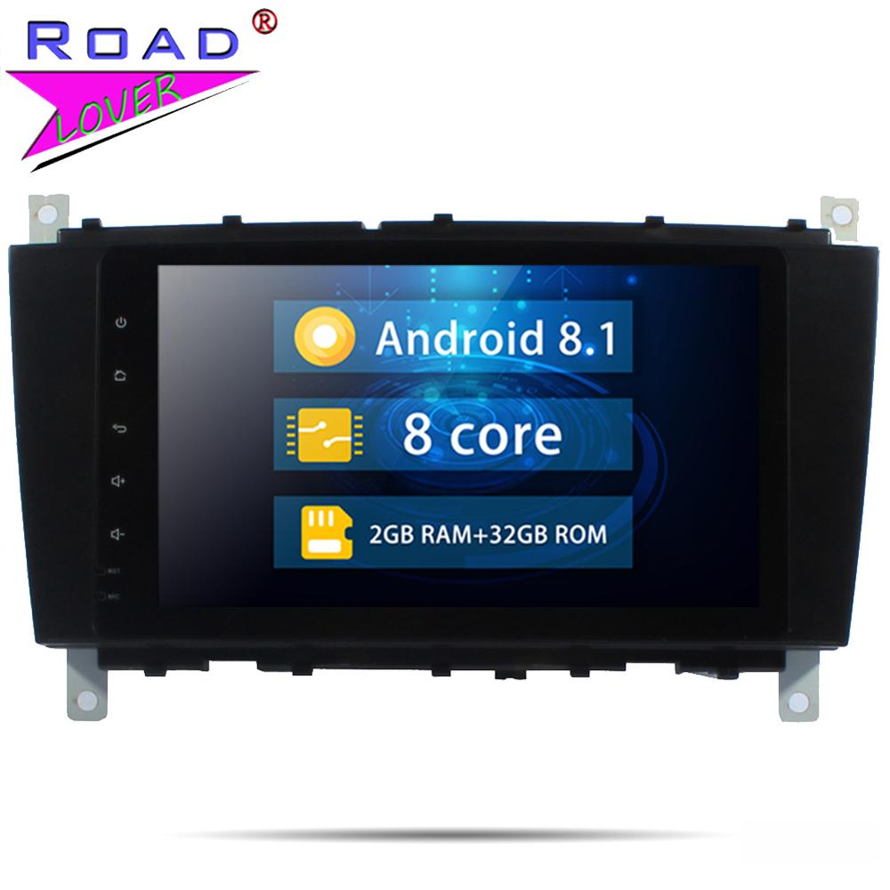 Car Radio Android 8.1 8'' Car DVD Player For Benz C-Class W203 W209 W219 2004-2007 Stereo Head Unit 1 Din Octa Core Autoradio image