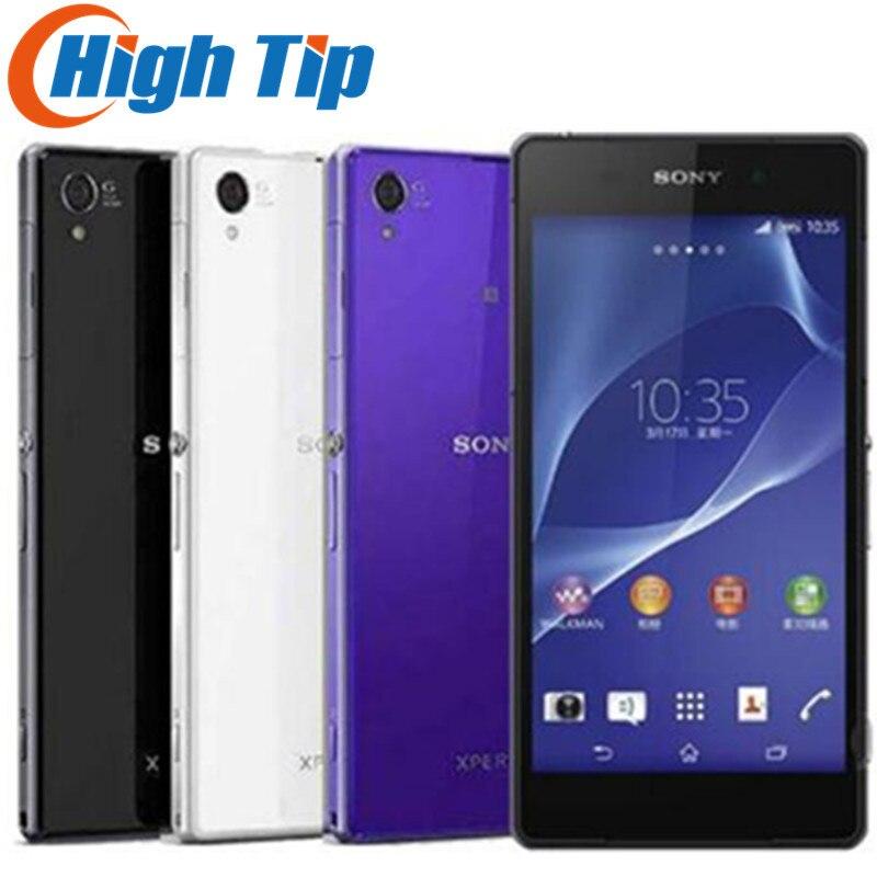 Débloqué Original Sony Xperia Z2 D6503 Android Quad Core Mobile Téléphone GSM WCDMA 4g LTE RAM 3 gb ROM 16 gb 5.2 pouce 20MP Caméra
