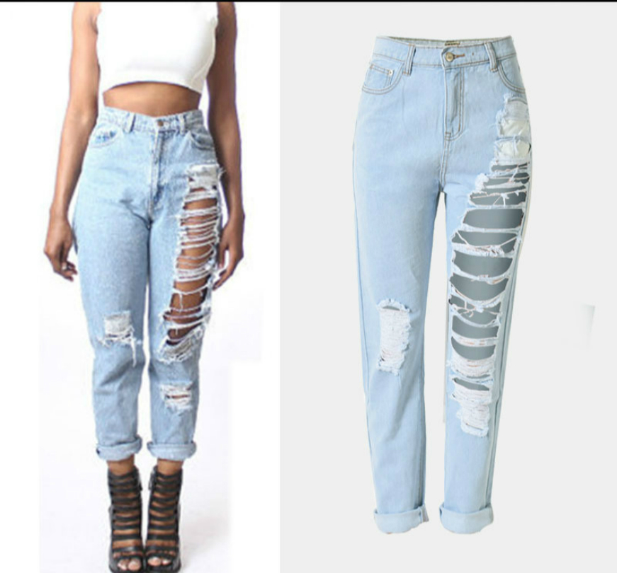 Popular Ripped Blue Jeans-Buy Cheap Ripped Blue Jeans lots from ...