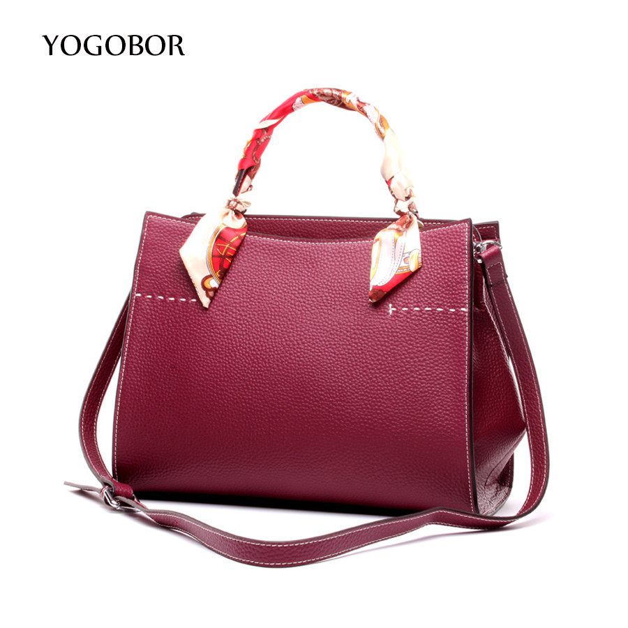 ФОТО New Women Messenger Bag With Scarves Women's Fashion Leather Handbags Designer Brand Lady Shoulder Bag High Quality Tote Bags