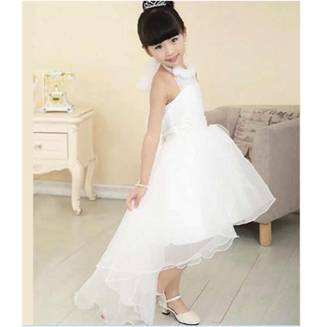 9c8a2e24f Niñas vestido blanco cola irregular medio Niñas traje para niños Jacobs ropa  burbuja vestidor Niñas ropa