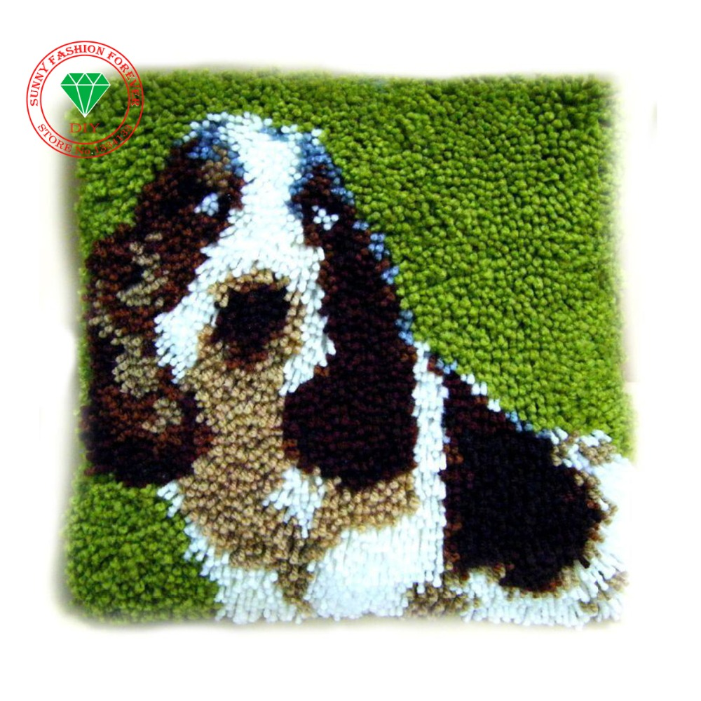 Rug Dogs Embroidery Designs: Aliexpress.com : Buy Lovely Dog Latch Hook Rug Kits DIY