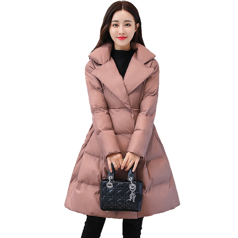 2018 New Winter Jacket Women   Parka   Coat Female Casual Plue Size Winter Coat Clothing Outwear Warm Thick Cotton Padded Jacket