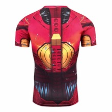 3d Full Prints T-shirts Mens Compression Shirt Base Layer Short Sleeve Workout Fitness MMA Body Building Tops Rashguard T-Shirt