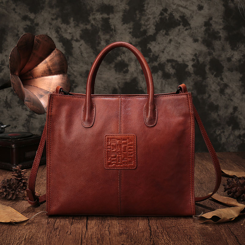 Female Bag Europe And The United States Fashion Handbag New Ladies Shoulder Bag Large-Capacity Leather Female Tote Bag