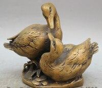 """JP S0524 9 """"Chiński Folk Miedź Statua rzeźby Zwierząt mandarin duck aix galericulata w Posągi i rzeźby od Dom i ogród na"""