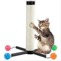 Pet Multi functional Sisal PVC Scratching Post Toy With Bell Balls For Cats To Grind Claws Cat Scratching Toys For Gatos W1