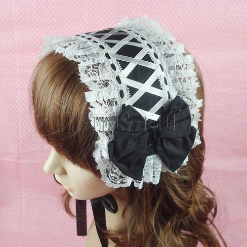 Gothic lolita vintage royal lace bow hairpin hair accessory hair accessory cos hair band bow