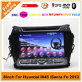 2 din автомобильный dvd gps для Hyundai Santa Fe IX45 2012 2013 2014 с GPS навигация Radio 3G \ WI-FI USB Ipod Steelwheel управления