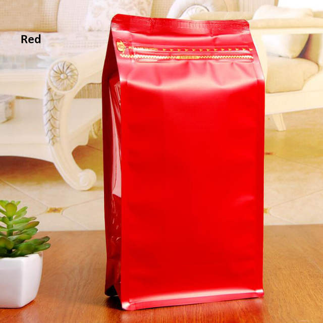 20 Pcs/Lot, Box Pouch 1 Pound Coffee Bag with One-Way Degassing Valve,  Stand Up Zipper Coffee Bags With Flat Bottom