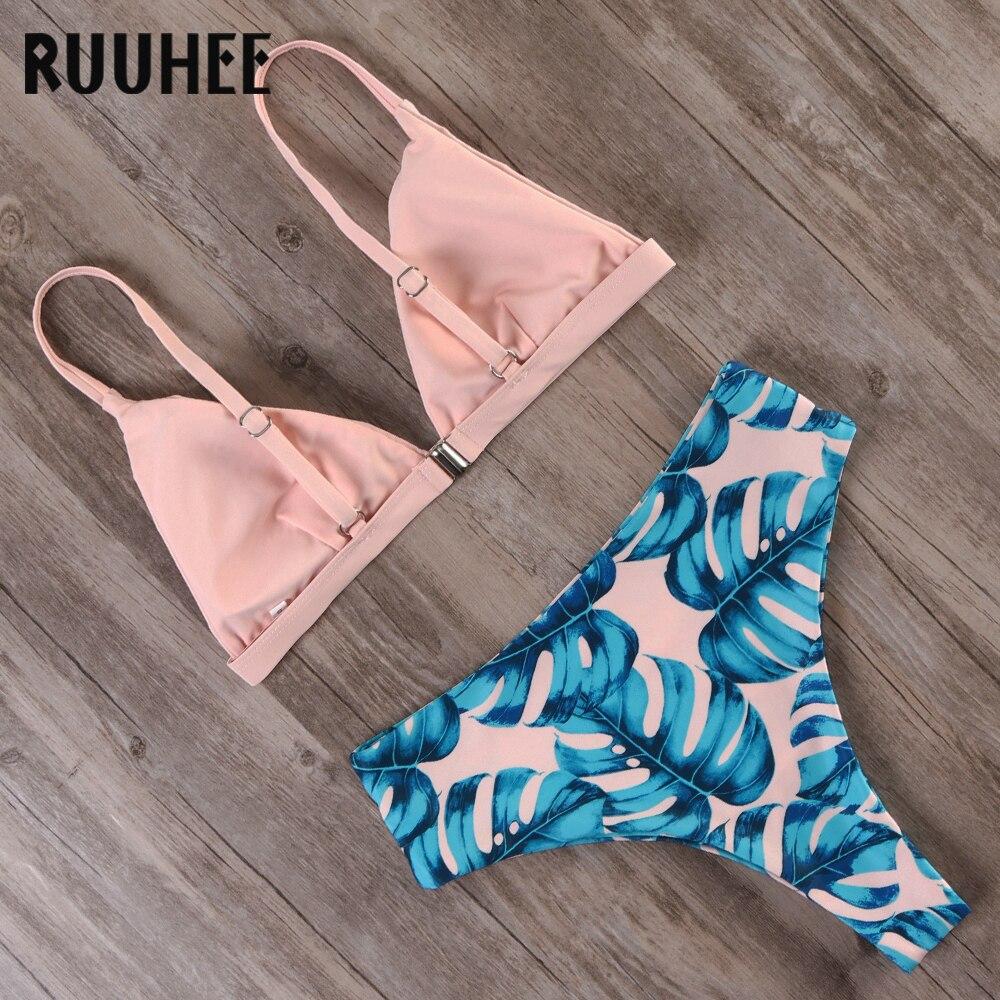HTB12mAVK4jaK1RjSZFAq6zdLFXag RUUHEE Bikini 2019 Swimwear Women Swimsuit High Waist Bikini Set Push Up Bathing Suit Women Beach wear Maillot De Bain Biquini