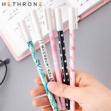 Hethrone high kawai leaf printing gel Pen cute Student pen set Writing Supplies pens Stationery for school signature