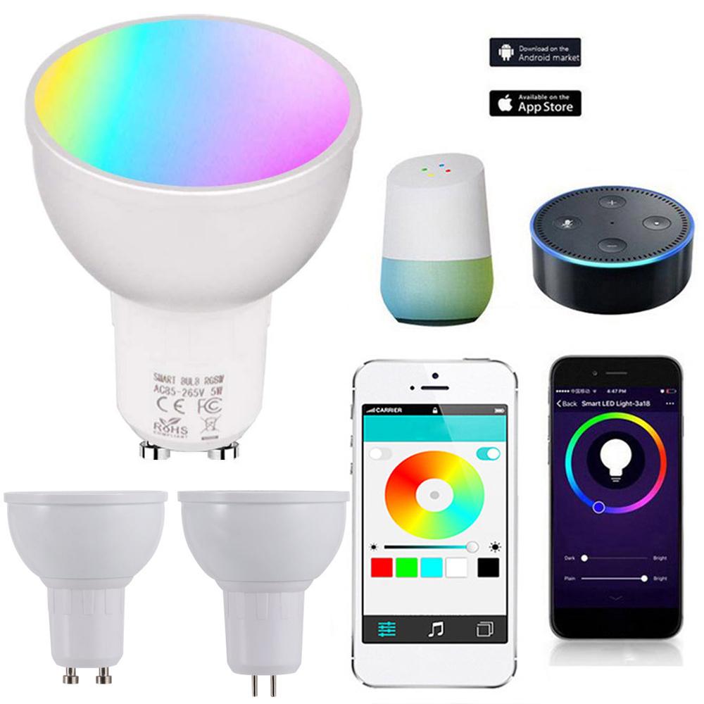 Wifi Smart LED Light Bulbs GU10/GU5.3/E27 APP Remote Control Switch Dimmable Compatible With Amazon Alexa/Google Assistant/IFTTT
