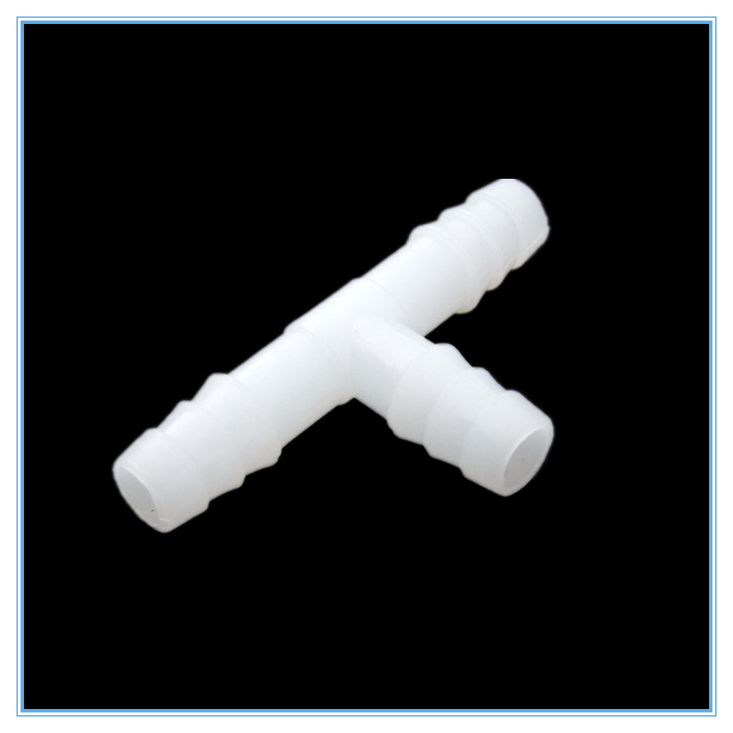 Plastic Barb Hose Fitting Tee 4mm 6mm 8mm 10mm 12mm 16mm 3 Way Hose Tube T-Shape Barb Plastic Fittings
