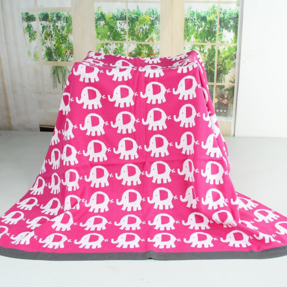 Multifunctional Cute Elephants Animals Baby Knitted Blanket Crochet ...