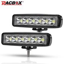 Racbox 6 «18 Вт тонкий светодиодный свет бар 12 В 24 В потока свет работы для автомобиля Мотоцикл ATV UTV 6 дюймов светодиодный Туман дальнего DRL Spotlight
