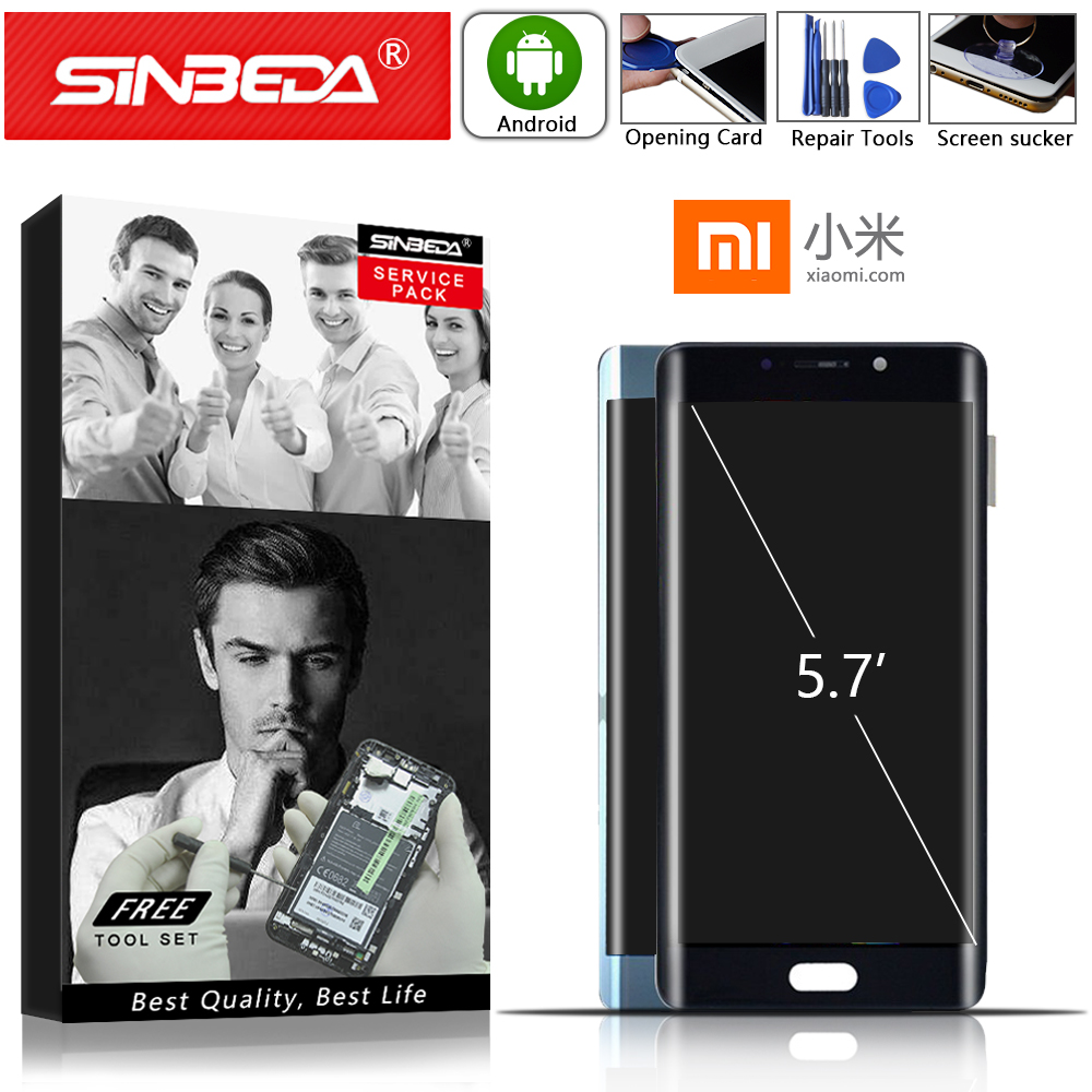 5.7 Sinbeda AMOLED For Xiaomi MI Note 2 LCD Display Touch Screen with Frame Digitizer For Xiaomi MI Note 2 Display Replacement5.7 Sinbeda AMOLED For Xiaomi MI Note 2 LCD Display Touch Screen with Frame Digitizer For Xiaomi MI Note 2 Display Replacement
