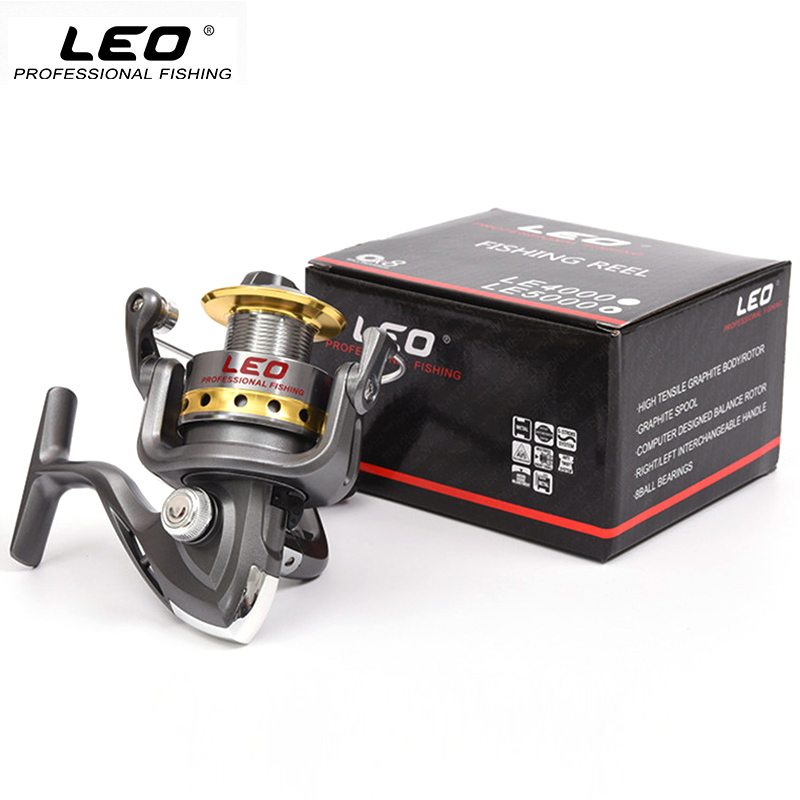 LEO Quality Half Metal Fishing Spinning Reel 8BB 5.5:1 Speed Ratio Spinning Fishing Reel for Sea Lake River Fishing LE1000-7000