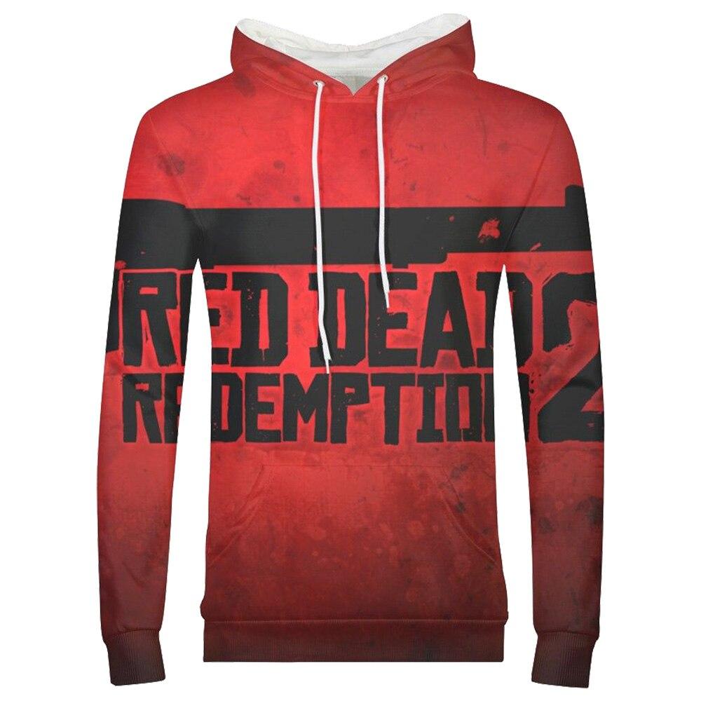 Game Hoodie Red Dead Redemption Cosplay Kostuum Hoodie Sweatshirts Lange Mouw 3d Gedrukt Hoodie Pullover Adult Apring Jas Mannen