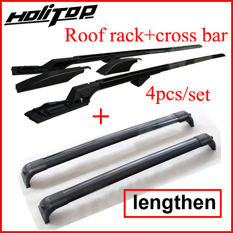 roof rack roof rail and cross bar for New Discovery 4 lengthen version 4pcs set high